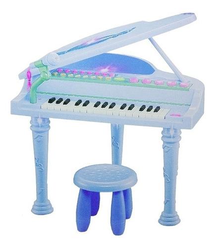 piano sinfonia infantil com gravador banquinho e microfone