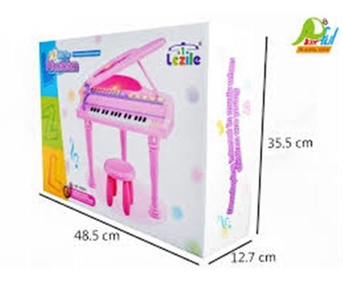 piano sinfonia infantil com gravador banquinho microfone ros