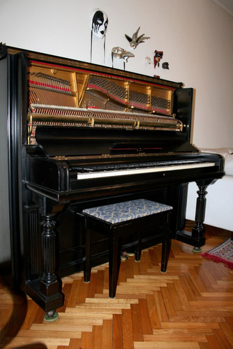 piano steinway & sons negro vertical - impecable