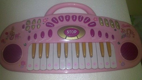 piano teclado barbie, totalmente operativo.