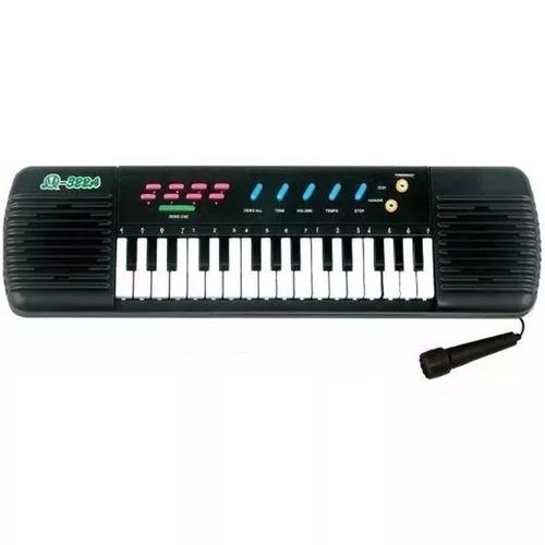 piano teclado de brinquedo musical infantil com microfone