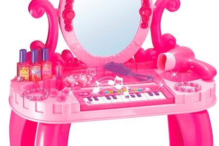 piano vanity tocador niñas secador 661-36 castillo princesas