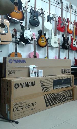 piano yamaha dgx660 kit mueble + pedal y micrófono citimusic