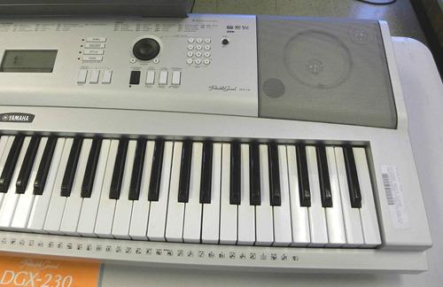 piano yamaha digital dgx-230 de 76 teclas sensibles usb sust