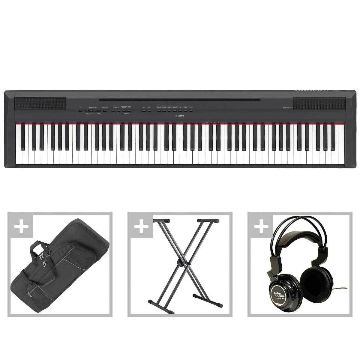 piano yamaha p115b de 88 teclas super oferta s en mercado libre. Black Bedroom Furniture Sets. Home Design Ideas
