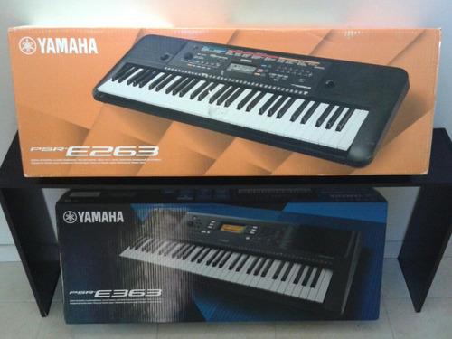 piano yamaha psr e263 estuche + base + dvd + atril citimusic