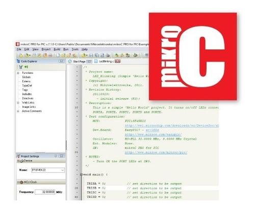 pic-compilador mikroc pro 7.2 - envio imediato