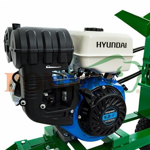 picadora de forraje mod. 2000 con motor hyundai 9.3 h.p.