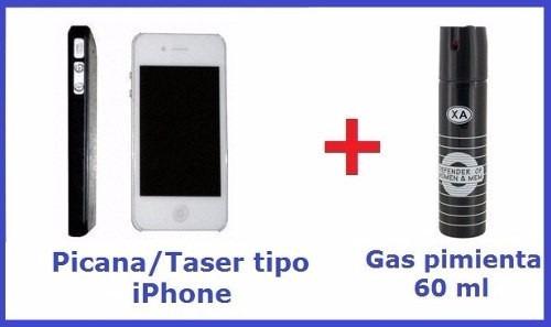 picana electrica tipo celular + gas pimienta oferta envios!!