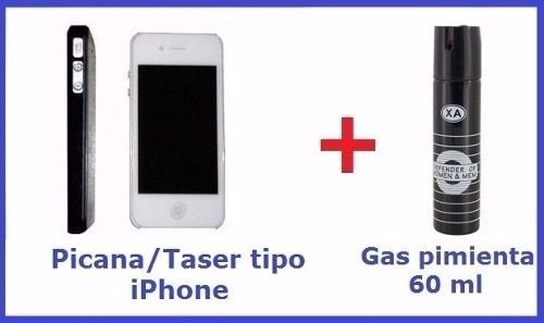 picana electrica tipo celular + gas pimienta oferta envios!