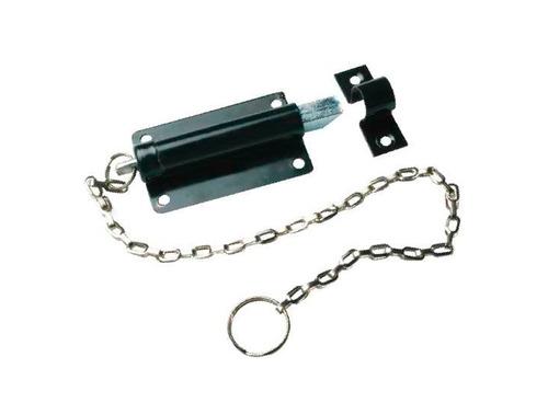picaporte con cadena 3` negro vera 23002