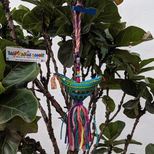 picaportero pajarito adorno tela diseño varios modelos