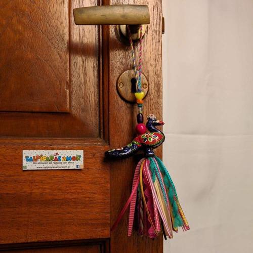 picaportero pavo real adorno diseño varios modelos