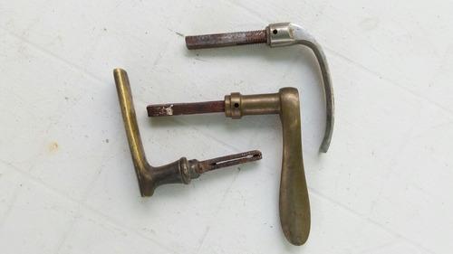 picaportes usados de bronce antiguos p/ repuestos