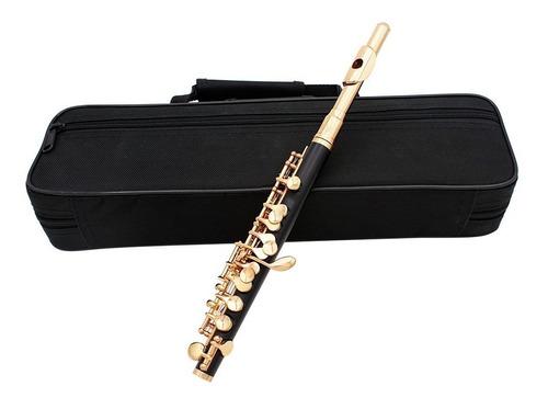 piccolo ottavino mitad -tamaño flauta de cuproníquel plata