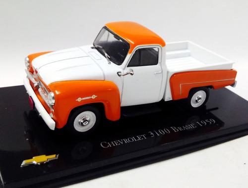 pick up chevrolet 3100 brasil 1959-  1/43 ixo altaya