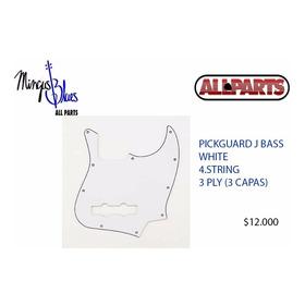 Pickguard (golpeador) Para Jazzbass Blanco, 3 Capas