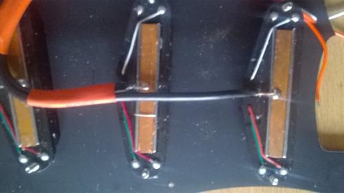 pickguard mighty mite de guitarra con coil rails x3