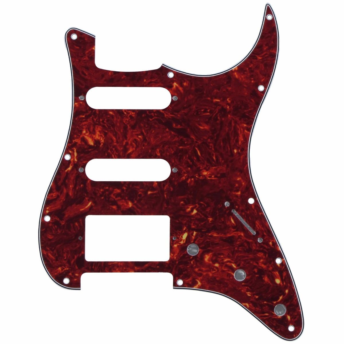 Pickguard Red Tortoise Para Fender Stratocaster Hss - $ 359.00 en ...