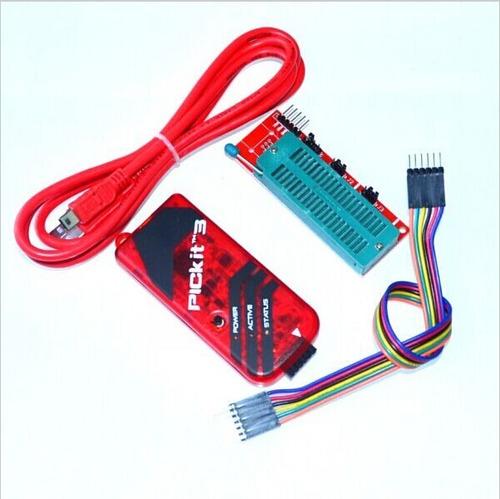 pickit 3 programador gravador debugger pic adaptador zif