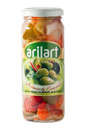 pickles mixtos en vinagre x 200 gr - pack 3 uni - arilart