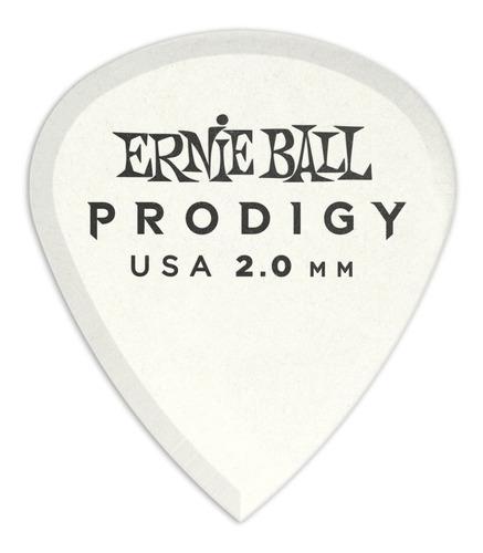 picks ernie ball prodigy white 3s mini 2.0 mm 6 pack