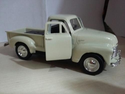pickup chevrolet 1953 de metal branca de coleção