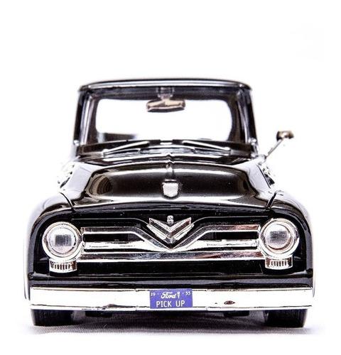 pickup ford antiga f100 1955 1/24 camionete ferro vermelha