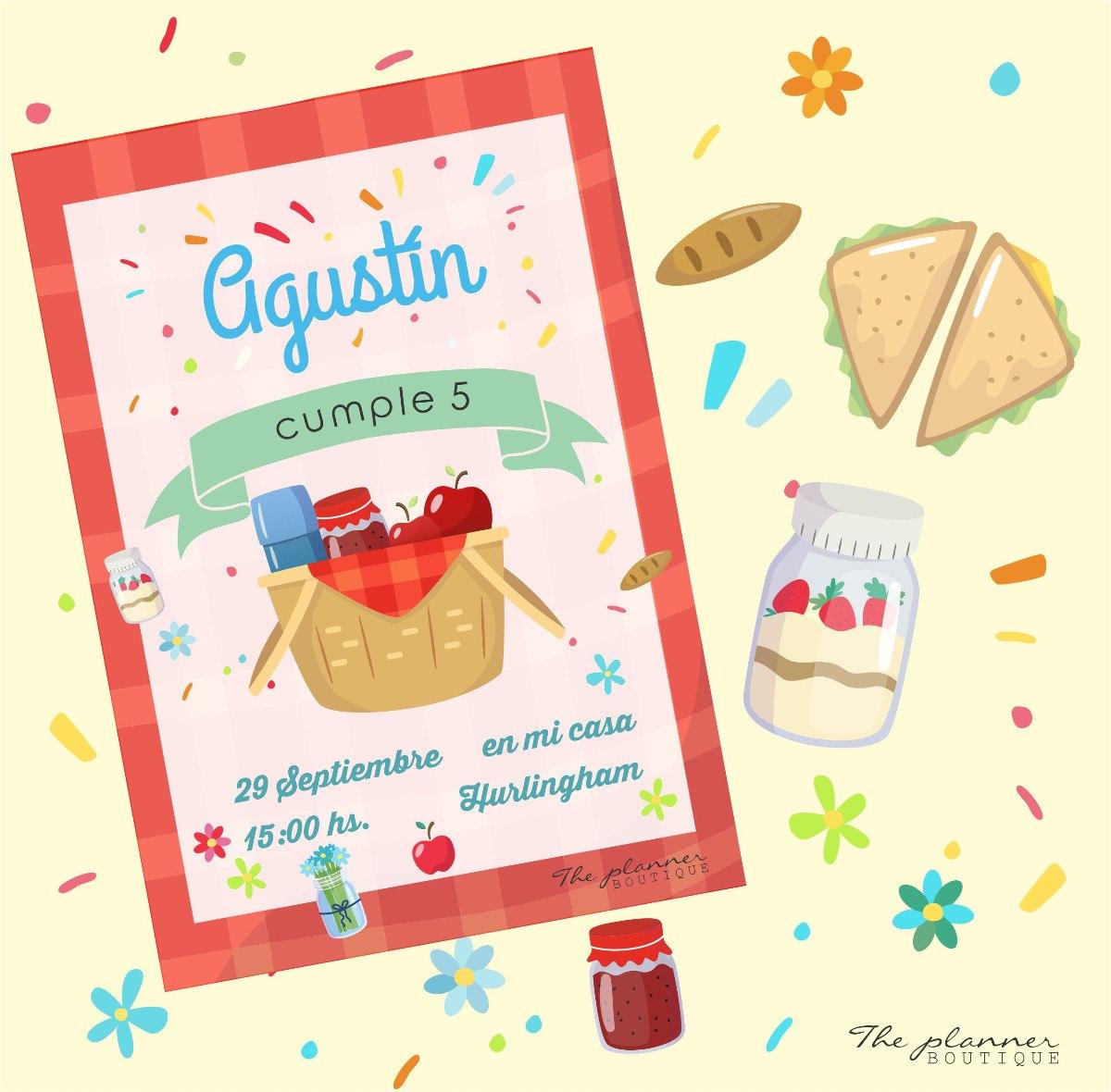 Picnic Invitaciones Digitales Impresas Candy Bar Toppers