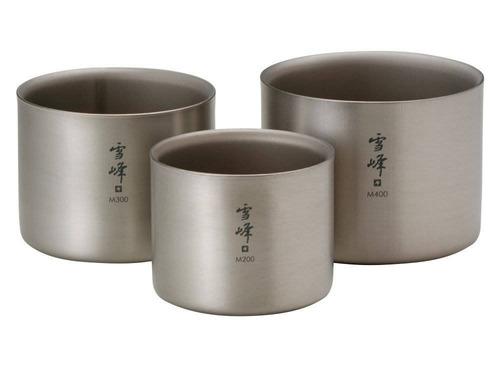 pico de la nieve titanium stacking mug doble  + envio gratis
