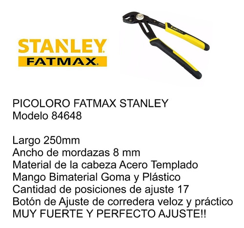 picoloro stanley fatmax 250mm 84648 17 puntos de ajuste