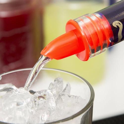 picos dosificadores plastico de colores bartender (unidad)