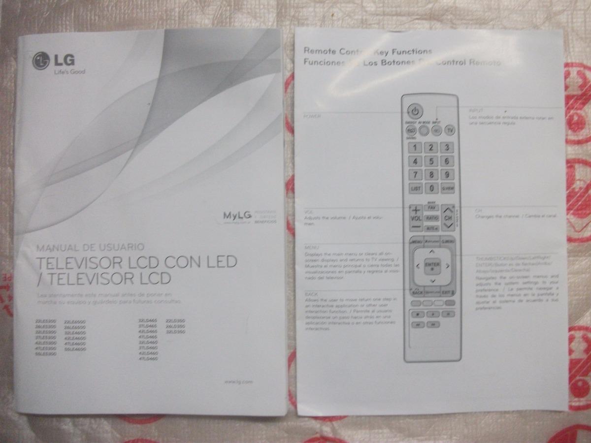 pie base y manual de instrucciones lcd lg ld32460 ld3245 180 00 rh articulo mercadolibre com ar manual de instrucciones de tv lg manual de instrucciones tv lg 32