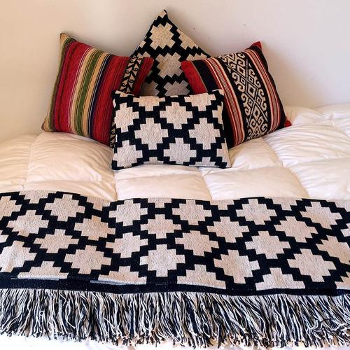 pie de cama + 2 fundas de almohadón *combo*
