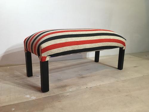 pie de cama, banqueta - tapizado de ecocuero / chenille