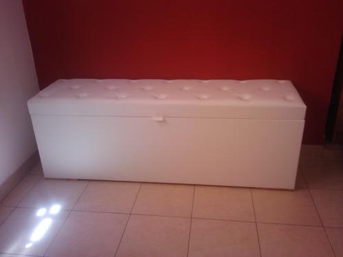 pie de cama baul 120'40x45 forrado interior friselina