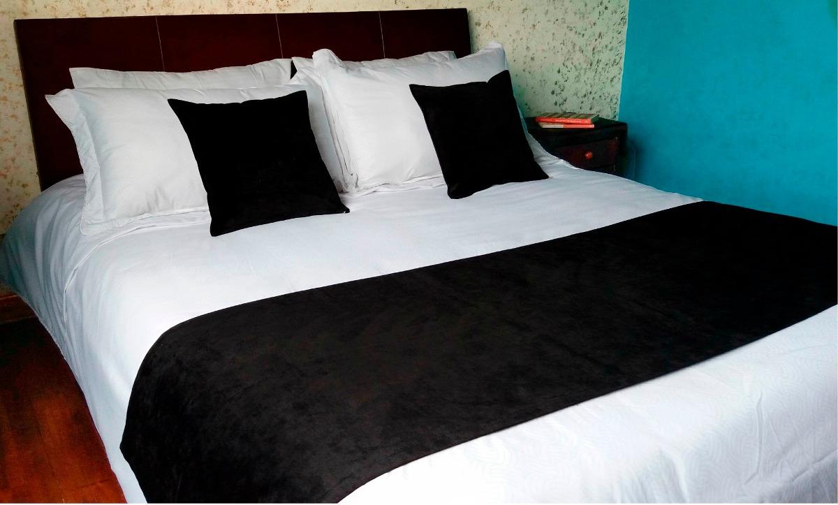 Pie de cama doble suave tela gruesa forro para cojines - Pie de cama ...