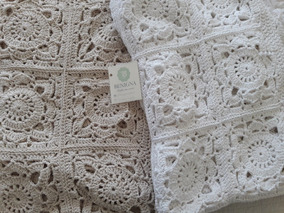 35f7b745a Pie De Cama. Manta . Colcha Artesanal Tejida Crochet. Envio