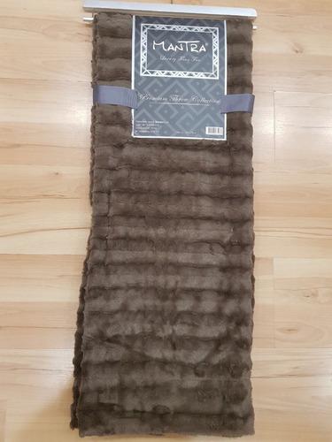 pie de cama simil piel súper suave texturado