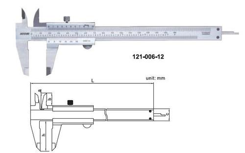 pie de metro analogo 6 o 150 mm. accud calidad industrial