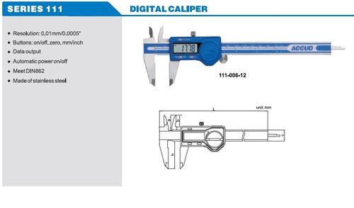 pie de metro digital 8 o 200 mm. accud calidad industrial