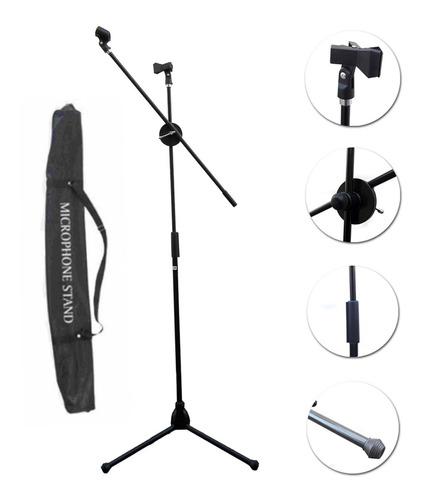 pie de microfono doble instrumento y solista 2 pipetas bolso