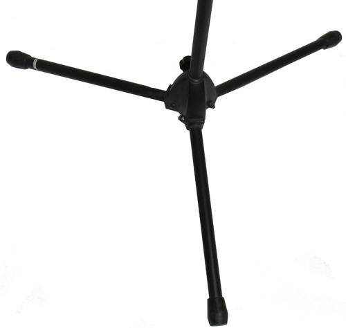 pie de microfono doble jirafa con pipeta reforzado metal