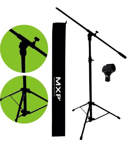 pie de microfono jirafa boom reforzado con funda pipeta - cuotas