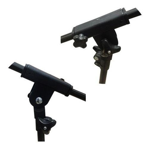 pie de microfono jirafa c/ funda soporte plegable pro stands