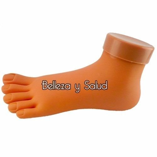 pie de practica muestra uñas acrilico decoracion gel dual sy