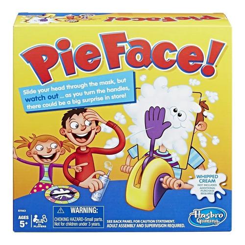 pie face pastel juego de mesa pieface original hasbro