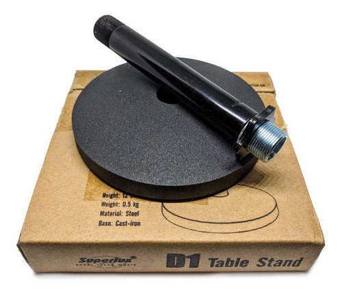 pie microfono de mesa superlux d1b base redonda - oddity