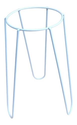 pie porta maceta de hierro nórdico 50 cm alto 18 cm diámetro