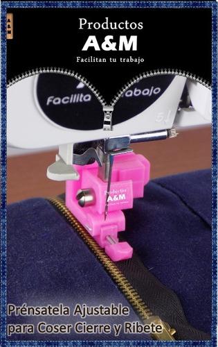 pie prensatela ajustable, coser cierre-ribete (cremallera)